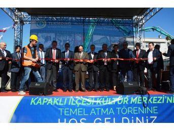 Kapaklı Kültür Merkezinin Temeli Atıldı
