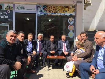 Başkan Sağıroğlu Referandum Çalışmaları Kapsamında Kaşüstü Mahallesinde Esnaf Ve Vatandaşları Ziyare