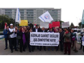 Açığa Alınan İbb Çalışanının Çirkin Paylaşımı Protesto Edildi