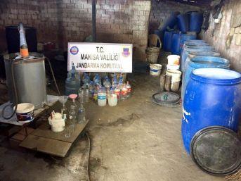 Manisa'da Kaçak İçki Operasyonu