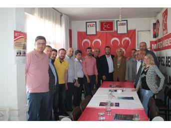 Kepez Ak Parti Teşkilatından Mhp'ye Ziyaret