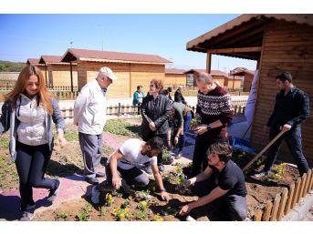 Alzheimer Hastaları Merkezefendi'nin Hobi Bahçesinde Ağırlandı