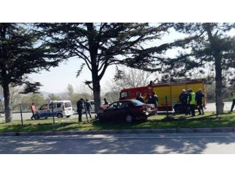 Refüjdeki Ağaca Çarpan Otomobilde Anne Öldü, Kızı Yaralandı...