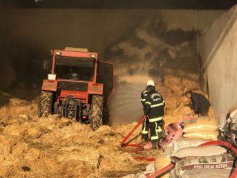 Kahramanmaraş'ta Besi Çiftliğinde Yangın