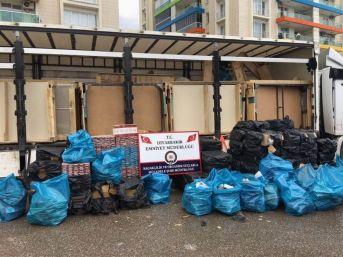 Diyarbakır'da 150 Bin Paket Kaçak Sigara Ele Geçirildi