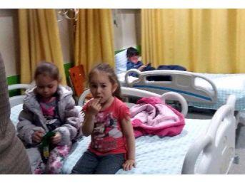 Hastane Kreşinde Kalan 22 Çocuk Hastaneye Kaldırıldı