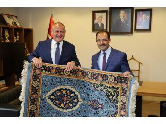 Düzce Belediye Başkanı Mehmet Keleş Uşak'ta