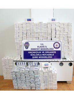 Elazığ'da 5 Bin 400 Paket Kaçak Sigara Ele Geçirildi