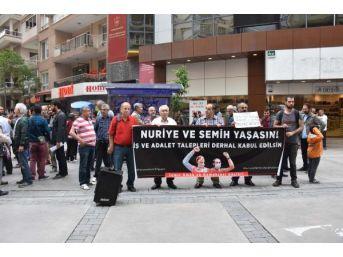 Açlık Grevindeki Nuriye Gülmen Ve Semih Özakça'ya Destek Eylemi