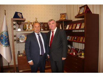 Sgm Müdürü Kaba'dan Başkan Arsan'a Ziyaret