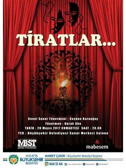 Büyükşehir Tiyatrosu Tiratları Sahneleyecek