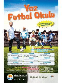 Adana Büyükşehir Belediyesi'nin Yaz Futbol Okulu Kayıtları Başladı