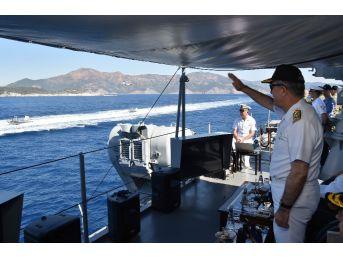"""Genelkurmay Başkanı Akar, """"denizkurdu 2017"""" Tatbikatını Yerinde İzledi"""