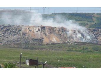 Bandırma Çöplüğünde Yine Yangın Çıktı