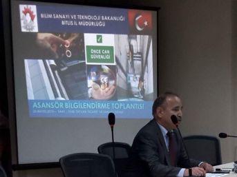 Tatvan'da Asansör Bilgilendirme Toplantısı