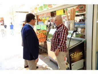 Başkan Subaşıoğlu Bayramyeri'nde Esnafı Ziyaret Etti