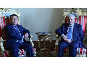 Başbakan Yıldırım Kırgızistan Meclis Başkanı Tursunbekov'u Kabul Etti