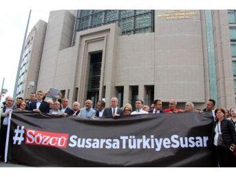 Sözcü Gazetesi Soruşturması Adliye Önünde Protesto Edildi (1)