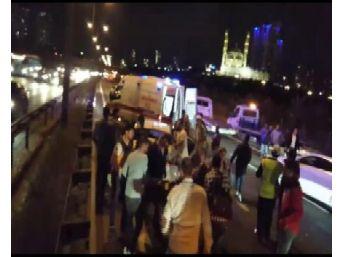 Tem'de Trafiği Kitleyen Kaza: 2 Yaralı