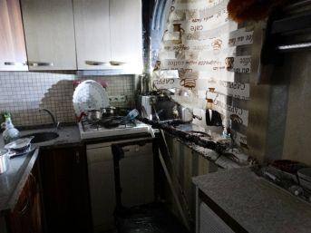 Mutfakta Çıkan Yangın Mahalleliyi Korkuttu