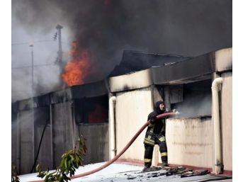 Keçe Fabrikasında Yangın