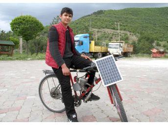 Liseli Gençten Motorlu, Güneş Panelli Bisiklet