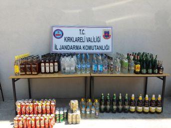 Kırklareli'de 289 Şişe Kaçak İçki Ele Geçirildi