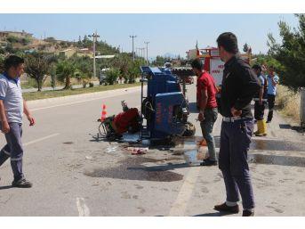 Mut'ta Taktak Motoru Devrildi: 3 Yaralı
