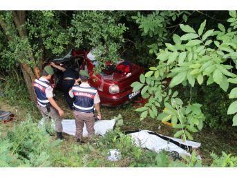Düzce'de Otomobil Ormanlık Alana Uçtu: 2 Ölü, 2 Yaralı