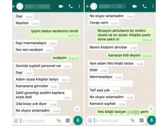 (özel Haber) 'gemide Fetö'cü Var' Mesajı Atıp Kaybolan Gemiciden Hala Haber Yok