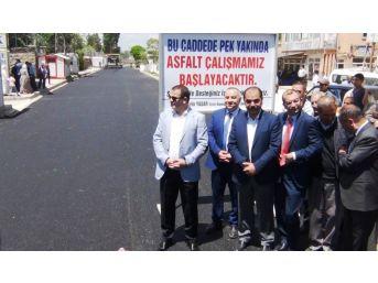 Erciş'te Sıcak Asfalt Çalışması