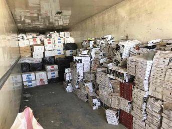 Tır'ın Dorsesinde 315 Bin Paket Kaçak Sigara Ele Geçirildi