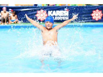 Karesi'de Havuzlar Bu Yıl 13 Bin Çocuğu Ağırlayacak