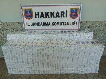 Yüksekova'da 8 Bin Paket Sigara Ele Geçirildi
