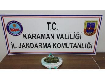 Karaman'da Otomobilde Kubar Esrar Ele Geçirildi