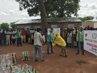 İhh'dan Çad'a Sığınan Orta Afrika'lı Mültecilere Yardım
