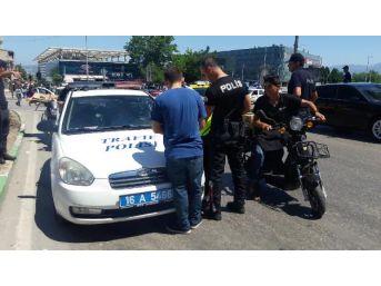 Bursa'da Motosiklet Sürücülerine Sıkı Denetim