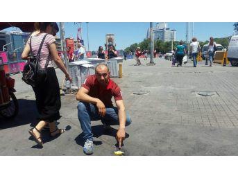 İstanbul'da Asfalta Yumurta Pişiren Sıcak