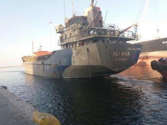 Ali Ağa Gemisi Tuzla'ya Çekildi