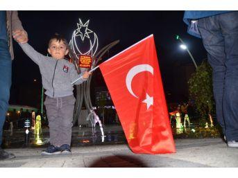 Sarıkamış'ta 15 Temmuz Milli Birlik Yürüyüşü Ve Demokrasi Nöbeti