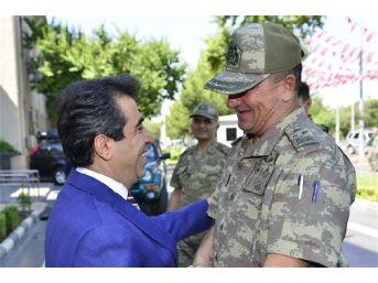 2'inci Ordu Komutanı Korgeneral Temel, Diyarbakır Valisi'ni Ziyaret Etti