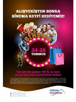 Alışverişten Sonra Sinema Keyfiniz Forum Erzurum'dan
