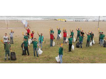 Giresun'da Belediye Çalışanları Plaj Ve Altgeçitleri Temizleme Kampanyası Başlattı