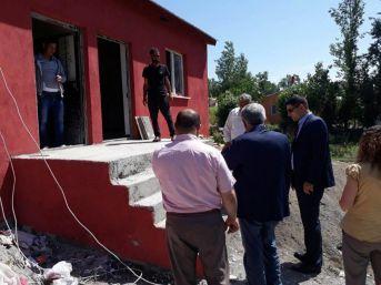 Kırçiçeği Köyü Taziye Evi İnşaatında Son Aşamaya Gelindi