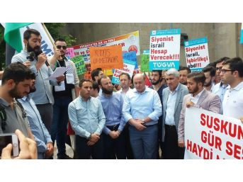 Kütahya'da Cuma Namazı Çıkışı İsrail Protesto Edildi