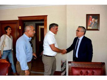 Gazetecilerden Vali Şimşek'e Ziyaret