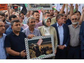 Trabzon'da İsrail Protestosu