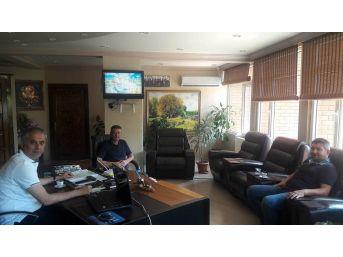 Başkan Yaman, Eski Belediye Başkanıyla Bir Araya Geldi