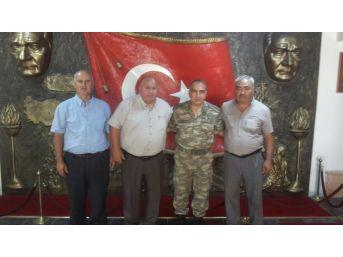 Muhtarlar Derneği'nden Tuğgeneral Koç'a Ziyaret