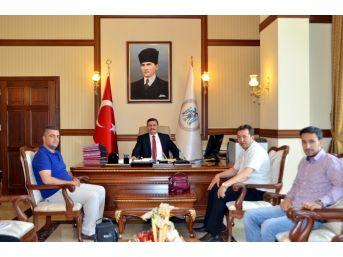 İhlas Haber Ajansı Heyetinden Erzincan Valisi Ali Arslantaş'a Ziyaret